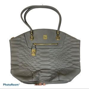 Kate Landry gray quilted handbag purse